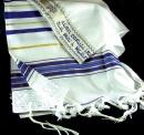 Prayer Shawl: Acrylic Blue/Gold | 24 inches